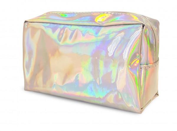 Kosmetiktasche in Hologramm-Optik, Maße 18x7,5x10,